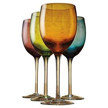 Tuscana 12 oz. Colored Wine Glass,Set of 4