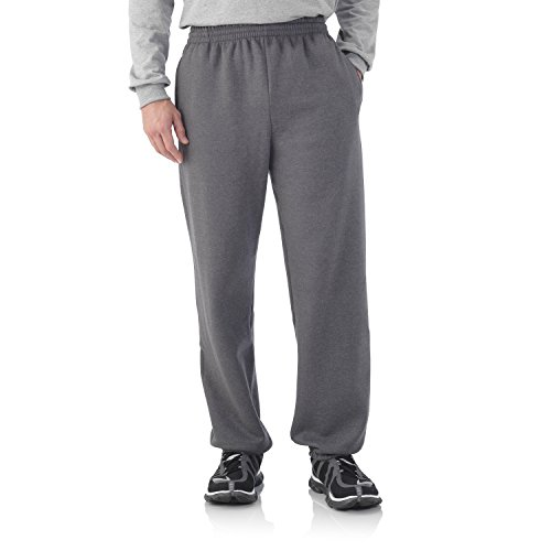 fruit-of-the-loom-best-collectiontm-mens-fleece-elastic-bottom-pant-large-charcoal-heather