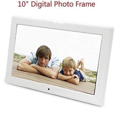 Amazon.com : Luxsure White 10 Inch Digital Photo Frame 1024x600 High ...