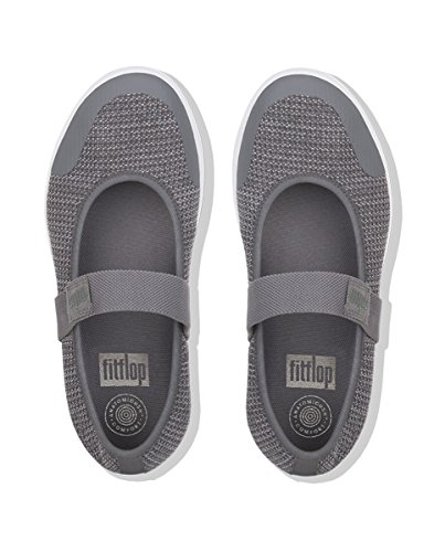 discount codes clearance store discount 100% authentic Fitflop Women Uberknit Metallic Weave Mary Janes Multicolour (Charcoal/Metallic Pewter) cheap sale official factory outlet cheap online 4sHEOT