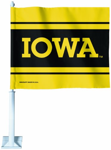 - NCAA Iowa Hawkeyes Car Flag