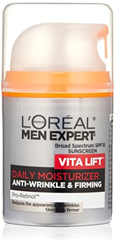 L'Oreal Paris Skincare Men Expert Vita Lift Anti-Wrinkle & Firming Face Moisturizer with SPF 15 and Pro-Retinol 1.6 fl. - Moisturizer Face Wrinkle Anti Lift