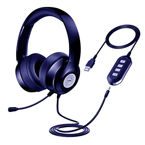 Mpow Truly 7.1 Surround Sound Headset, Dual 60mm Speaker Drivers Gaming Headset with Noise Cancelling Microphone, Gaming Headphone for PS4, PC, Xbox One, Switch (Flip to 7.1 Sound on Control Box)