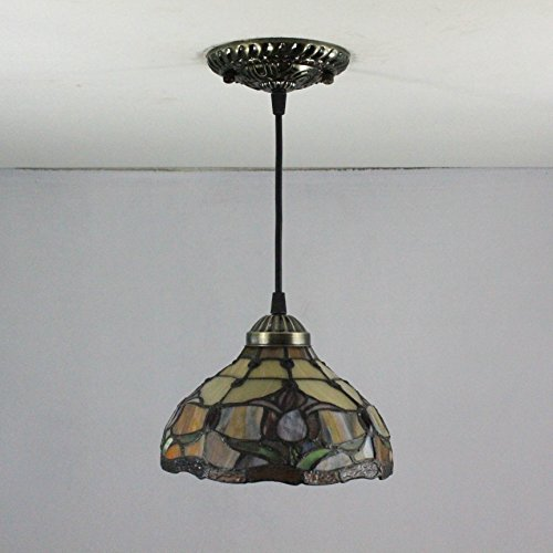 Gweat 8-Inch pastoral tulip tiffany pendant light ceiling porch lamp