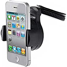 3-in-1 Car Mount Windshield Dash AC Air-vent Holder Stand Window Glass Dashboard Cradle Suction Black for Straight Talk iPhone 4S - Straight Talk iPhone 5 - Straight Talk iPhone 5C