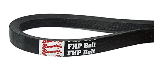 Browning Industrial Belts 2L160 FHP V-Belt, L Belt Section, Rubber, 16