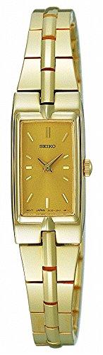 Baguette Crystal Dress Watch - Seiko Women's SZZC44 Dress Gold-Tone Watch