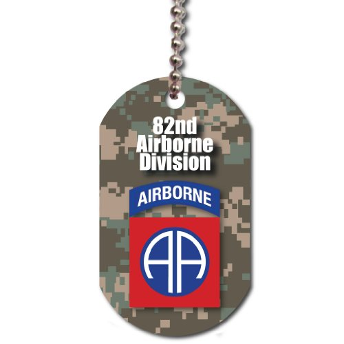 VictoryStore Dog Tag - United States 82nd Airborne Division Dog Tag, Support The United States Military