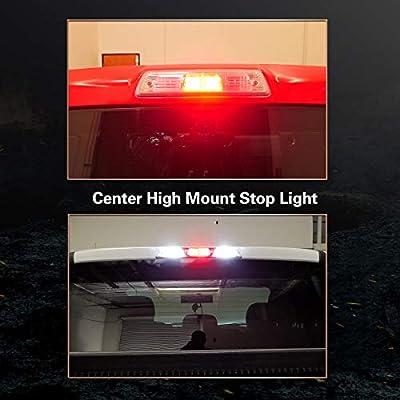 LASFIT 921 912 W16W LED Third Brake Center High Mount Stop Light Bulbs, Red Light,Plug&Play: Automotive