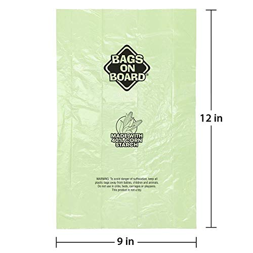 Product image of Bags on Board Sustainable Dog Poop Bags and Bag Dispenser | Made with 40% Corn Starch | 450 Dog Waste Bags
