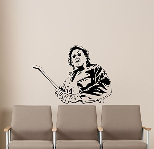 Michael Myers Halloween Wall Decal Movie Maniac Horror Poster Halloween Artwork Vinyl Sticker Nursery Wall Art Teen Kids Room Wall Decor Removable Waterproof Mural 162b