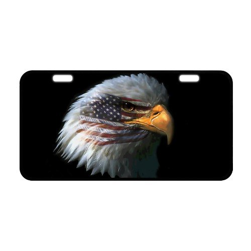 American Eagle Plate - U.S. American Flag Bald Eagle Durable Aluminum Car License Plate 11.8