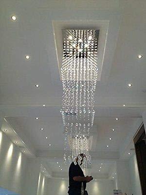 FidgetGear Modern Square Rain Drop LED K9 Crystal Chandelier Pendant Light Ceiling Lighting by FidgetGear (Image #3)