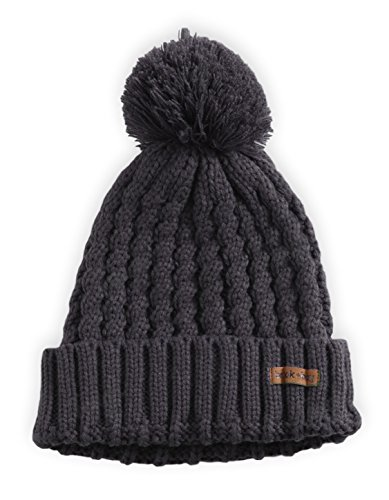 Brook + Bay Pom Pom Beanie - Stay Warm & Stylish - Thick, Soft & Chunky Cable Knit Beanie Hats for Women & Men - Serious Beanies for Serious Style