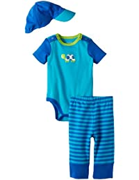 Baby Apparel Baby-boys Newborn Turtle Bodysuit/Pant Set and Hat