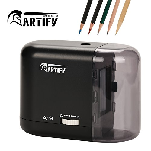 Artify Electric Pencil Sharpener-Auto Stop-Battery Or Ac ...