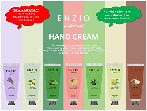 ENZIO Professional Grade Shea Butter Based Hand Cream Lotion