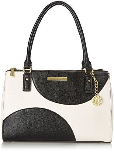Anne Klein Shimmer Down II Tote Shoulder Bag WhiteBlack One Size