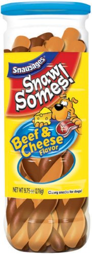SnawSomes! Beef and Cheese Snacks for Dogs, 9.75-Ounce Canisters (Pack of 5), My Pet Supplies
