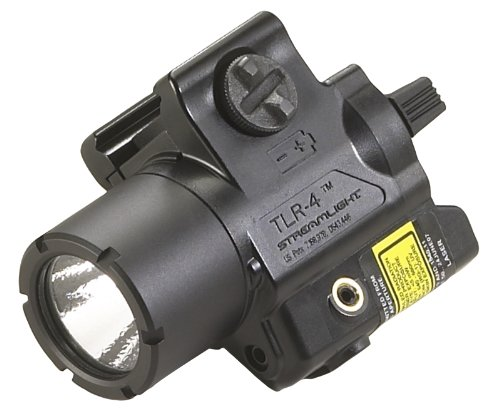 - Streamlight 69240 TLR-4 Compact Rail Mounted Tactical Light with Laser Sight - 125 Lumens