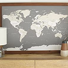 Amazoncom Classic US Map Large Push Pin Travel Map Framed - Large framed us map