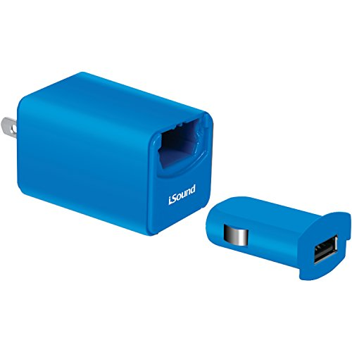 iSound Wall and Car Combo Charger Pro for smartphones, tablets, MP3 players and other USB powered devices (blue) Dreamgear Mp3
