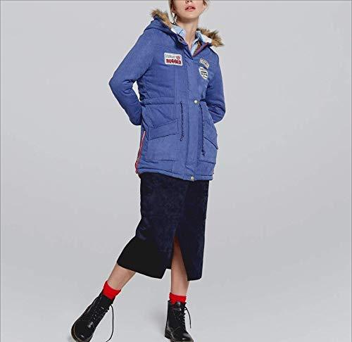 Salvaje Delgada Tops Schwarz Mujeres Tight De Chaqueta Invierno Mantener Super Las Ocio Mujer Abrigo Acogedor Moda Casual Para Cálido Outwear Algodón Calidad xOqvwaTn