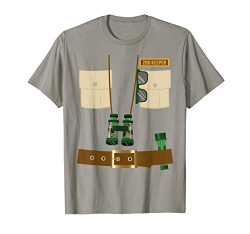 Zoo Keeper Halloween Costume DIY Gift Jungle Safari Explorer T-Shirt (5ive Jungle Shirts)