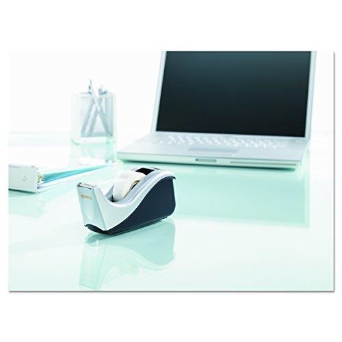 Dispensador de cinta de escritorio Scotch Silvertech, dos tonos (C60-ST)