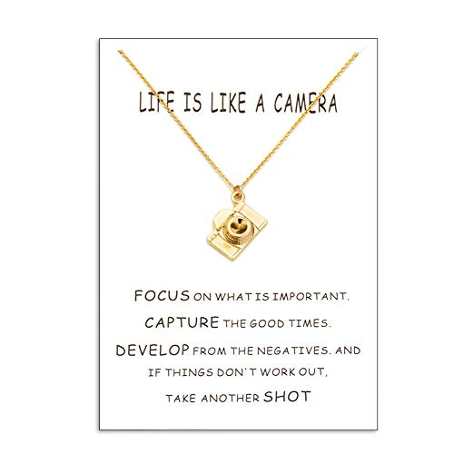 Filluck Camera Necklace for Kids, Photography Gift, Camera Pendant - Camera Necklace Pendant