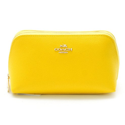 COACH コーチ レザーポーチ SMALLCOSMETIC CASE 53067 LIYLW イエロー [並行輸入品]   B011QFEOWM