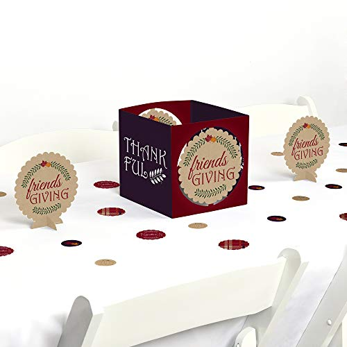 Big Dot of Happiness Friends Thanksgiving Feast - Friendsgiving Party Centerpiece & Table Decoration Kit