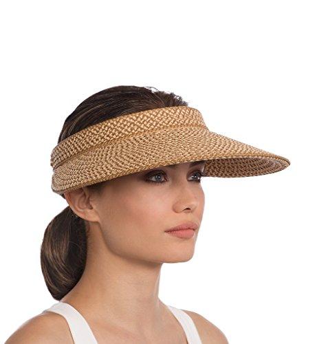 Eric Javits Women's Luxury Headwear Va Voom Visor Hat Peanut by Eric Javits