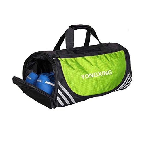 Große Sport Duffel Taschen Gym Zubehör Taschen Reisetasche mit Schuhfach, E