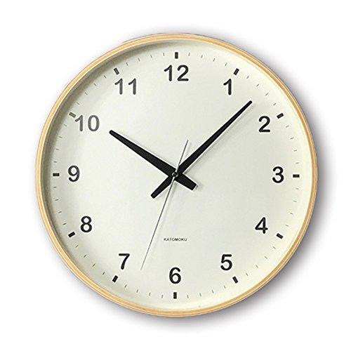KATOMOKU plywood wall clock ナチュラル スイープ(連続秒針) km-33L φ304mm B00WS2CABA