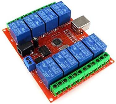 Interruttore di comando USB per computer a relè a 4 canali DC 12V