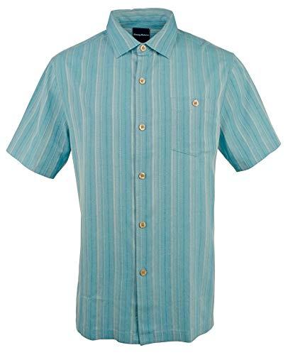 - Tommy Bahama Men's Zaldera Stripe Camp Shirt-LW-L