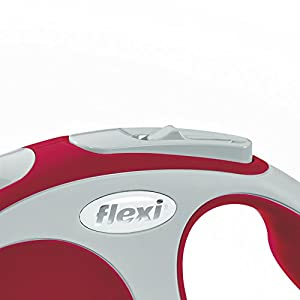 Flexi Vario Retractable Dog Leash (Tape), 10 ft, Extra-Small, Red