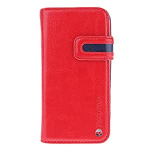 2-in-one Designed with Card Slot and Removable Back Cover Full Body Case for iPhone 5/5S (Assorted Colors) --- COLOR:Rose
