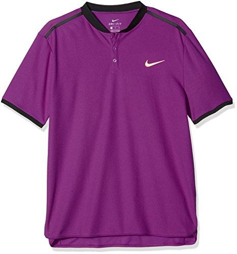 Nike M Nkct Adv Polo Solid Pq Camiseta de Manga Corta de Tenis, Hombre morado (vivid purple/black/tart)