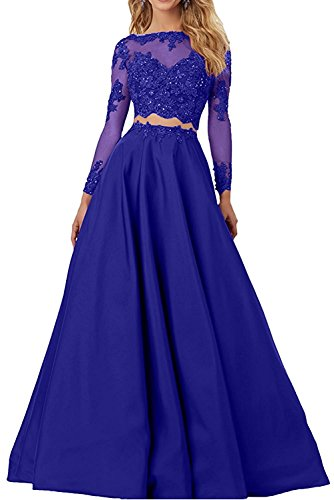 para Vestido azul trapecio mujer real Topkleider wfZBnqEw