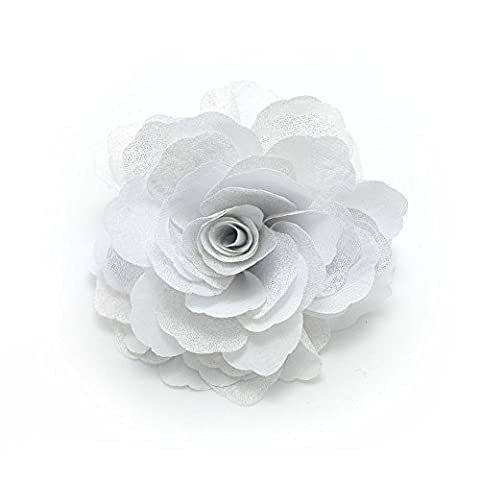 Meilliwish? Camellias Flower Hair Clip and Brooch Pin(A74)(White)