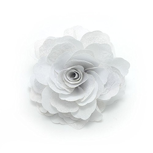 Meilliwish? Camellias Flower Hair Clip and Brooch Pin(A74)(White) ()