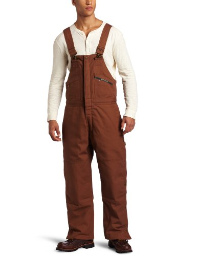 Key Apparel Men's Insulated Duck Bib Overall, Saddle, X-Large-Short -