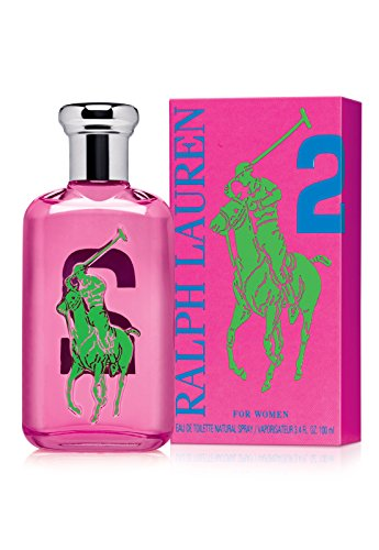 (Ralph Lauren Polo Big Pony Eau de Toilette Spray for Women, No.2 Pink, 3.4 Fluid Ounce)