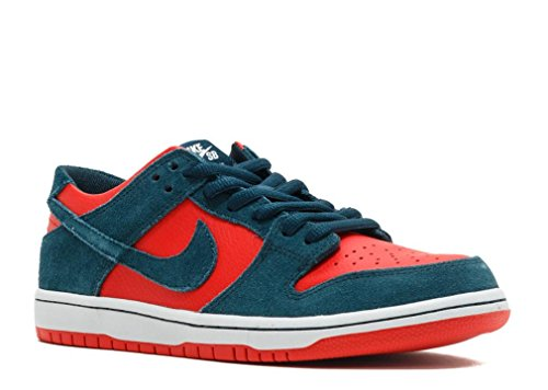 Nike SB ZOOM DUNK LOW PRO mens skateboarding-shoes 854866-336_7.5 - NIGHTSHADE/NIGHTSHADE-CHILE RED