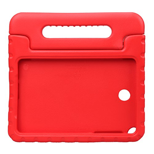 NEWSTYLE Samsung Galaxy Tab A 8.0 Shockproof Case Light Weight Kids Case Super Protection Cover Handle Stand Case for Kids Children For Samsung Galaxy Tab A 8.0-inch SM-T350 - Red Color