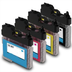 iso-9001-compatible-ink-cartridge-replacement-for-brother-lc61set-blackcyanmagentayellow-4-pack-