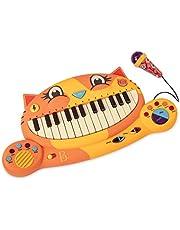 B. toys Meowsic katt tangentbord – leksak piano med mikrofon och musik – barnpianoleksak från 2 år