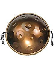 Handpan Drum, Professional Handpan in D Minor 11 Notes Steel Hand Drum, 22Inch/56Cm Harmonic Percussion for Sound Healing, 11 Notes D3 A Bb C D E F G A, with Carry Bag,Made in USA